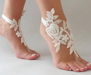 etsy, beach wedding shoes, and barefoot sandals image