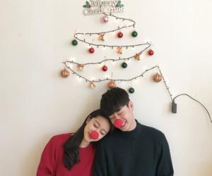 couple, korean, and merry christmas image