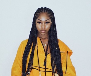 black girl and braids image