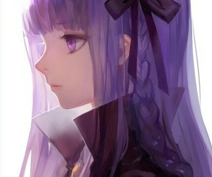 anime, anime girl, and purple image