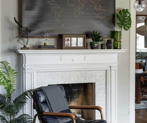 fireplace, home decor, and interior decorating image