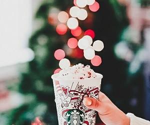 christmas, starbucks, and coffee image