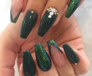 green, nail art, and nails image