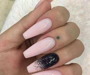 long nails, nail shape, and manucure image