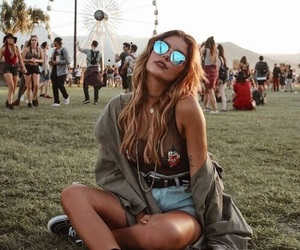 girl, fashion, and festival image