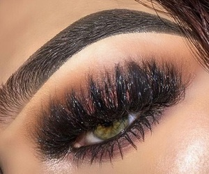 contacts, eyebrow, and make-up image