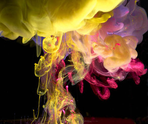colorful, explosions, and ink image