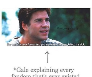 fandom, gale, and hunger games image
