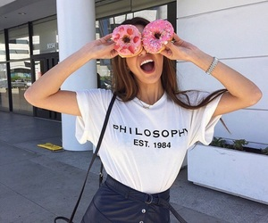 girl, donuts, and tumblr image