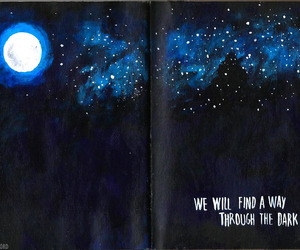quotes, moon, and dark image