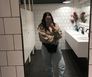 clothing, girl, and mirror pic image