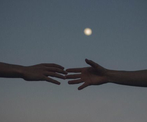 hands, moon, and tumblr image