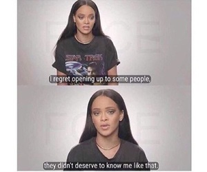 rihanna, quotes, and truth image