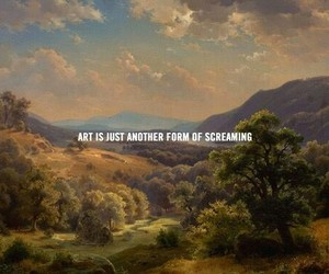 art, quotes, and scream image
