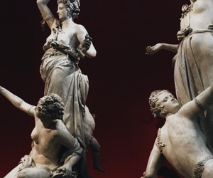 aesthetics, red, and statues image
