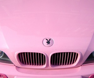 pink, Playboy, and car image