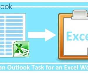 excel workbook, ms excel, and outlook task image