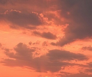 aesthetic, sky, and orange image