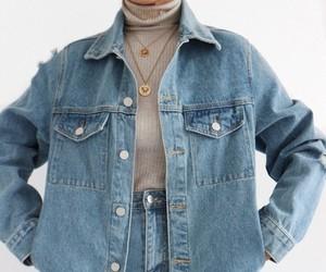 chic, denim, and fashion image