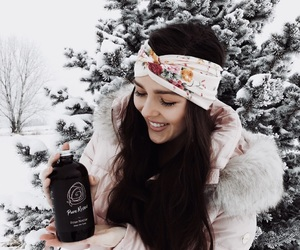 brunette, winter, and fashion image