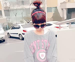 bun, pretty, and corean image