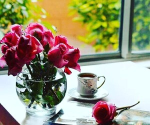 bonjour, ًورد, and cafe image