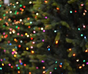 bokeh, christmas, and merry christmas image