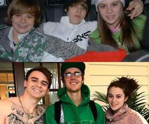 CAITLIN, christian, and justin bieber image