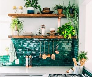 kitchen, home, and green image