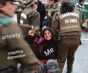 anxiety, funny, and loneliness image