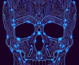 black, blue, and electronics image