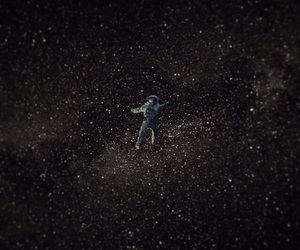alone, astronaut, and floating image