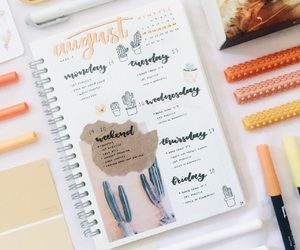 college, bullet journal, and inspiration image