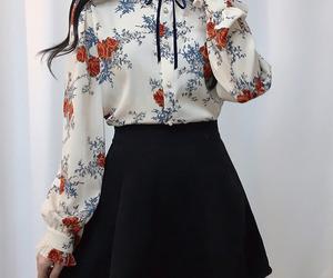 floral, formal, and kfashion image
