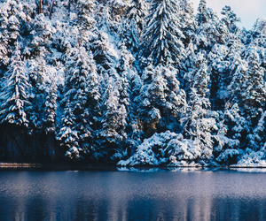 background, blue, and snow image