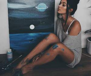 girl, art, and painting image