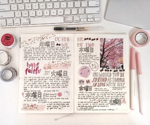 pink, planner, and bujo image