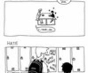 boy, lové, and comic image