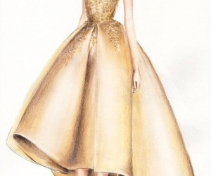drawing, elegance, and fashion image