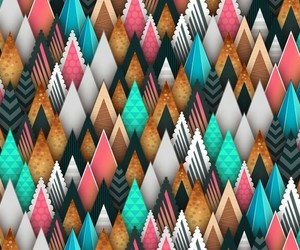 background, geometric, and mint green image