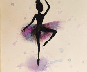ballerina, drawing, and watercolor image