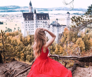 castle, dress, and fashion image