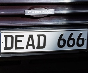 dead, 666, and aesthetic image