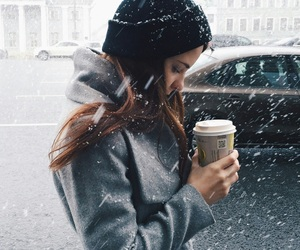 coffee, snow, and tumblr image