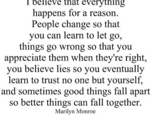 quotes, change, and Marilyn Monroe image