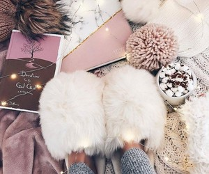 fluffy, cozy, and pink image