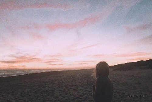 pink and sunset image