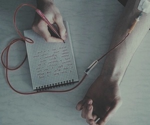 blood and write image