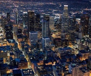 california, city lights, and los angeles image