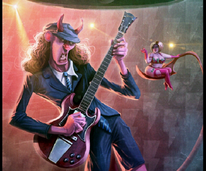 ACDC, art, and drawing image